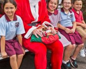 santa and a few of his biggest fans